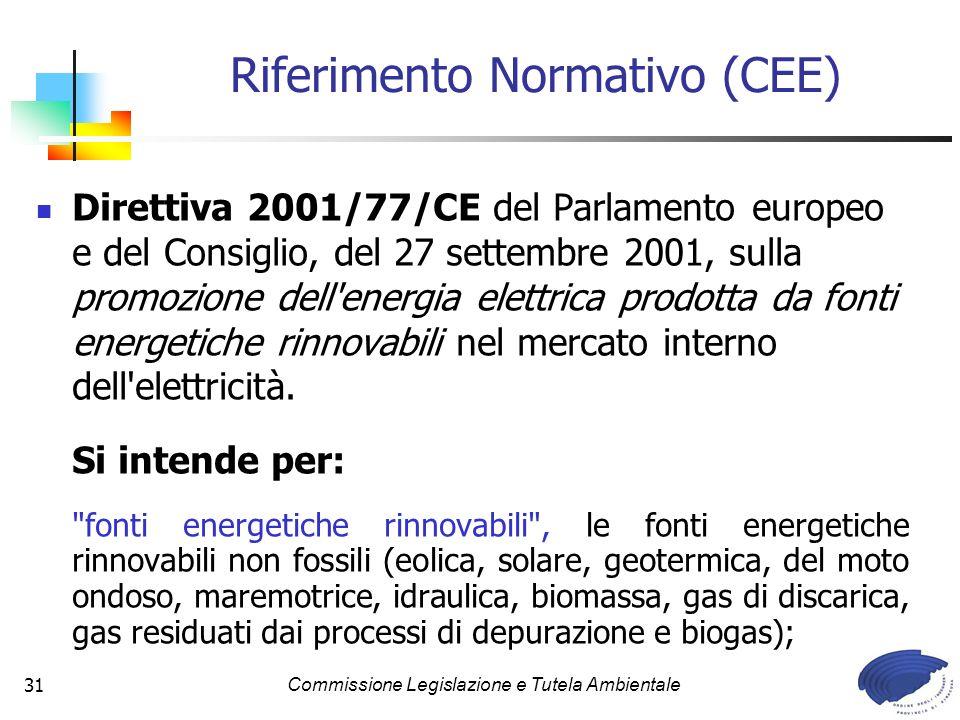 Riferimento Normativo (CEE)