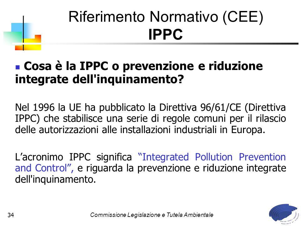 Riferimento Normativo (CEE) IPPC