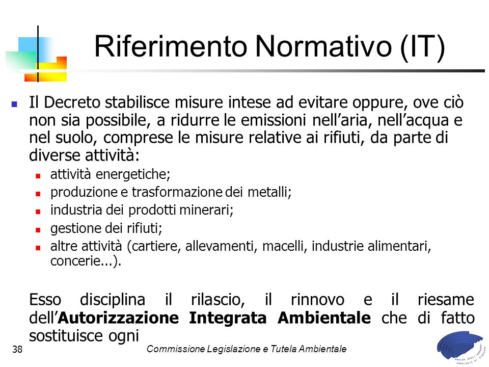 Riferimento Normativo (IT)