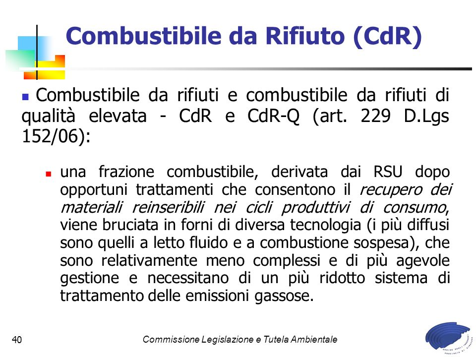 Combustibile da Rifiuto (CdR)
