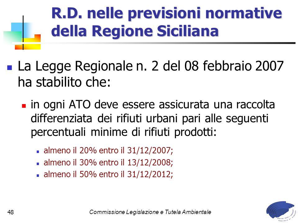 R.D. nelle previsioni normative della Regione Siciliana