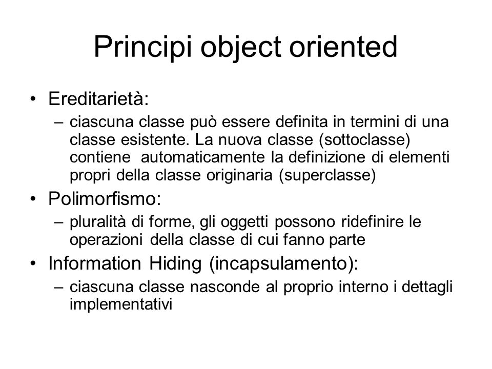 Principi object oriented
