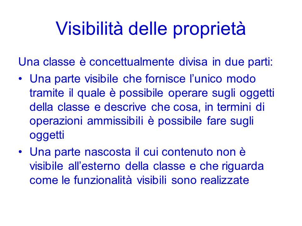 Visibilità delle proprietà