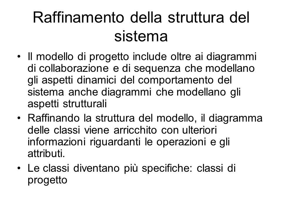 Raffinamento della struttura del sistema