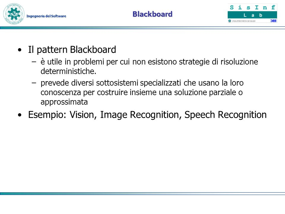 Esempio: Vision, Image Recognition, Speech Recognition