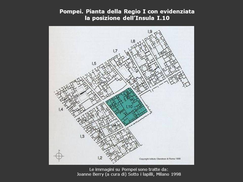 Pompei. Pianta della Regio I con evidenziata