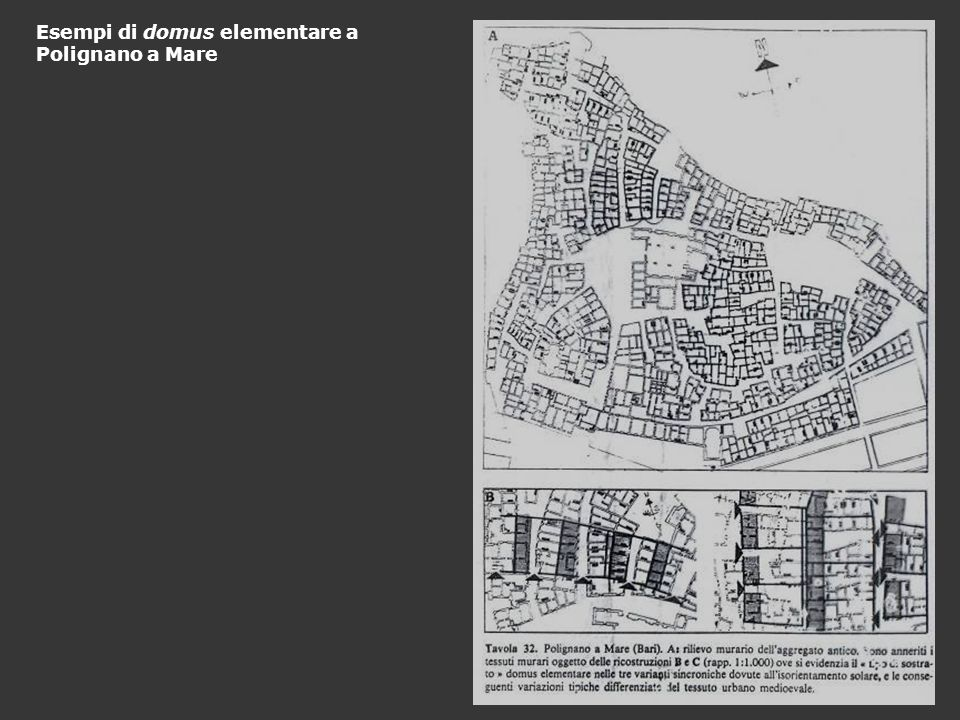 Esempi di domus elementare a Polignano a Mare