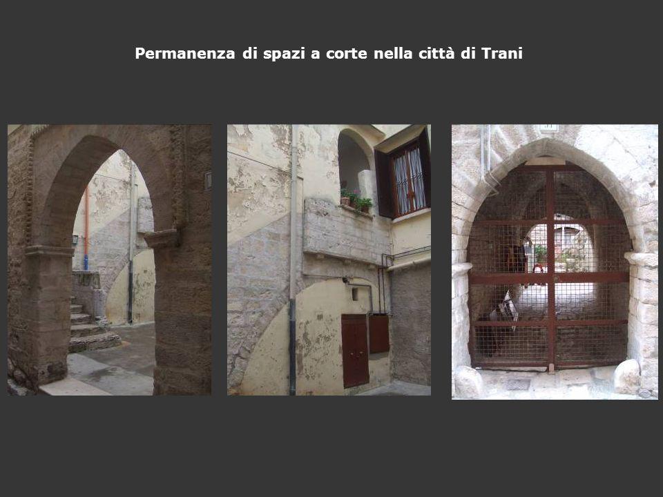 Permanenza di spazi a corte nella città di Trani