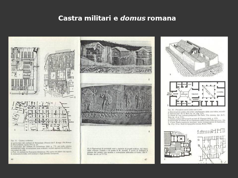 Castra militari e domus romana