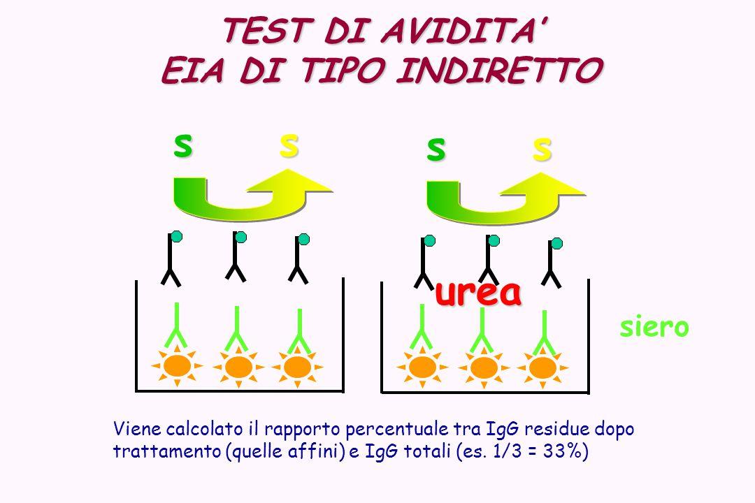 s urea TEST DI AVIDITA' EIA DI TIPO INDIRETTO siero