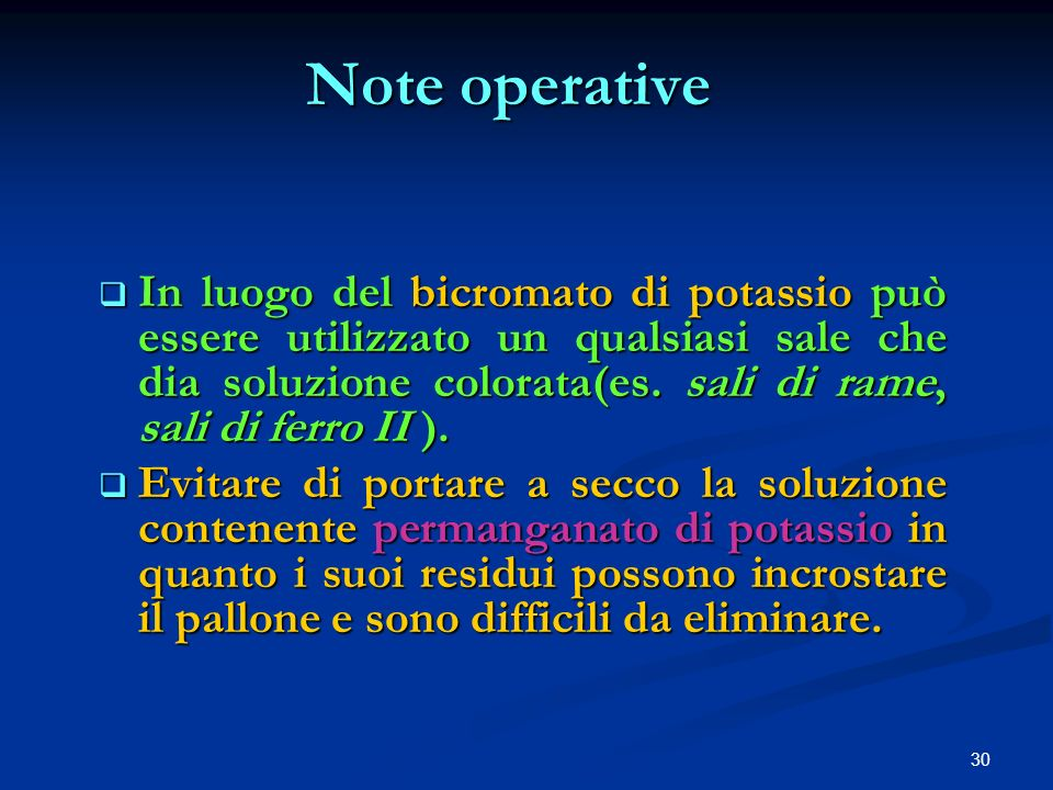 Note operative