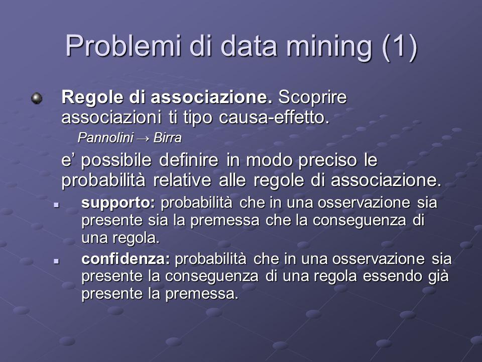 Problemi di data mining (1)