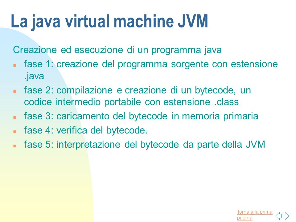 La java virtual machine JVM