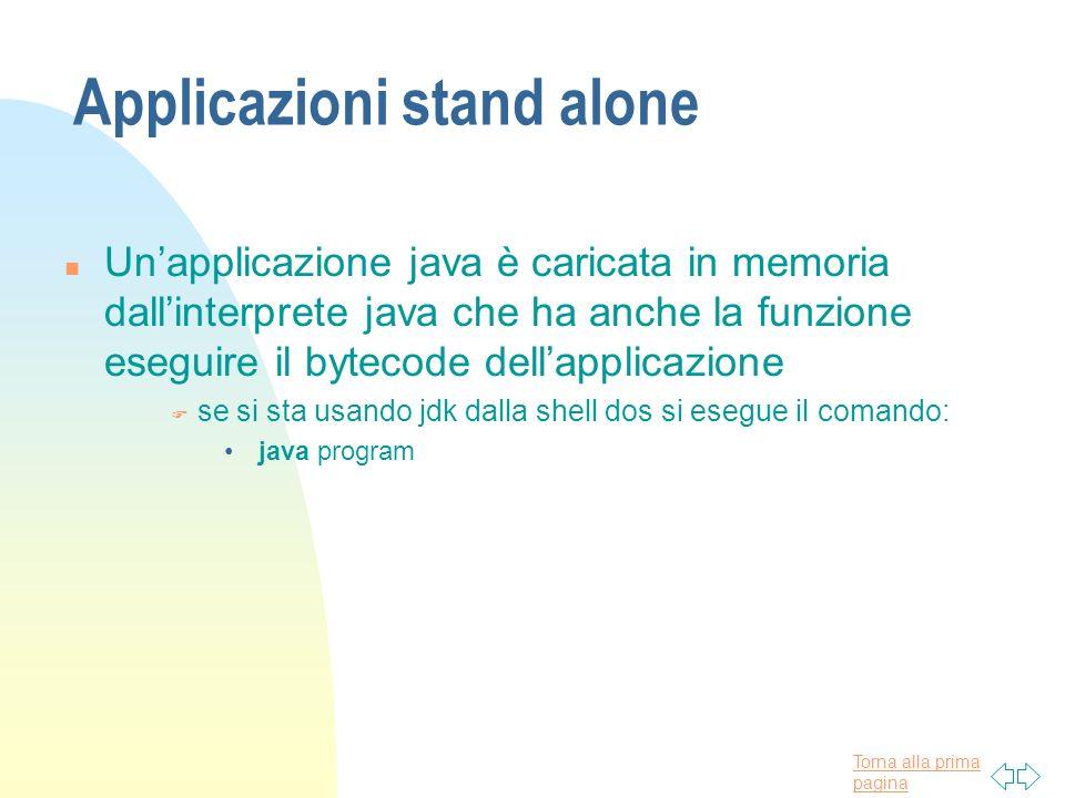 Applicazioni stand alone