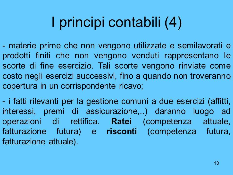 I principi contabili (4)