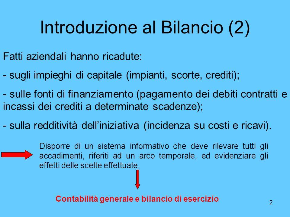 Introduzione al Bilancio (2)