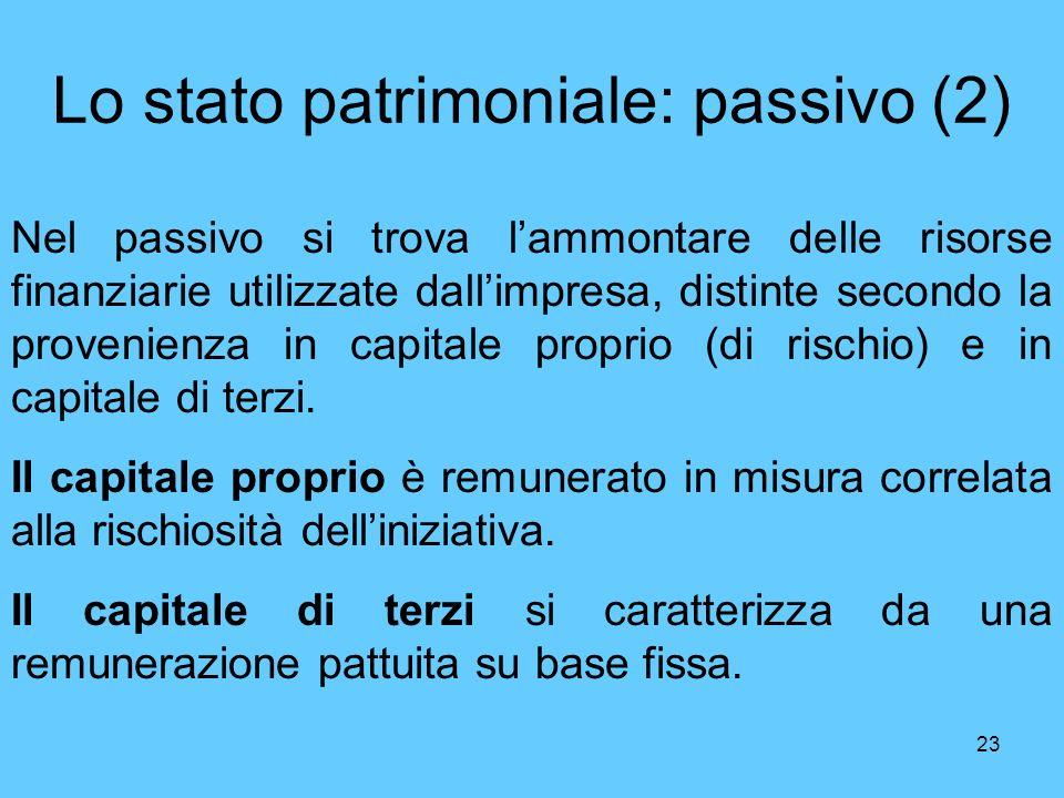 Lo stato patrimoniale: passivo (2)