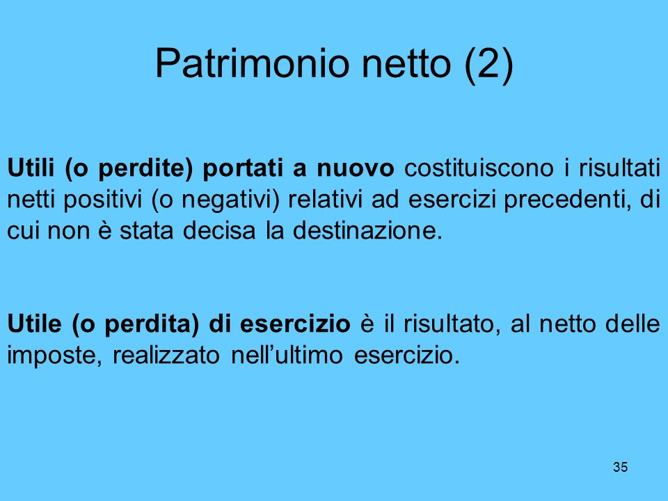 Patrimonio netto (2)
