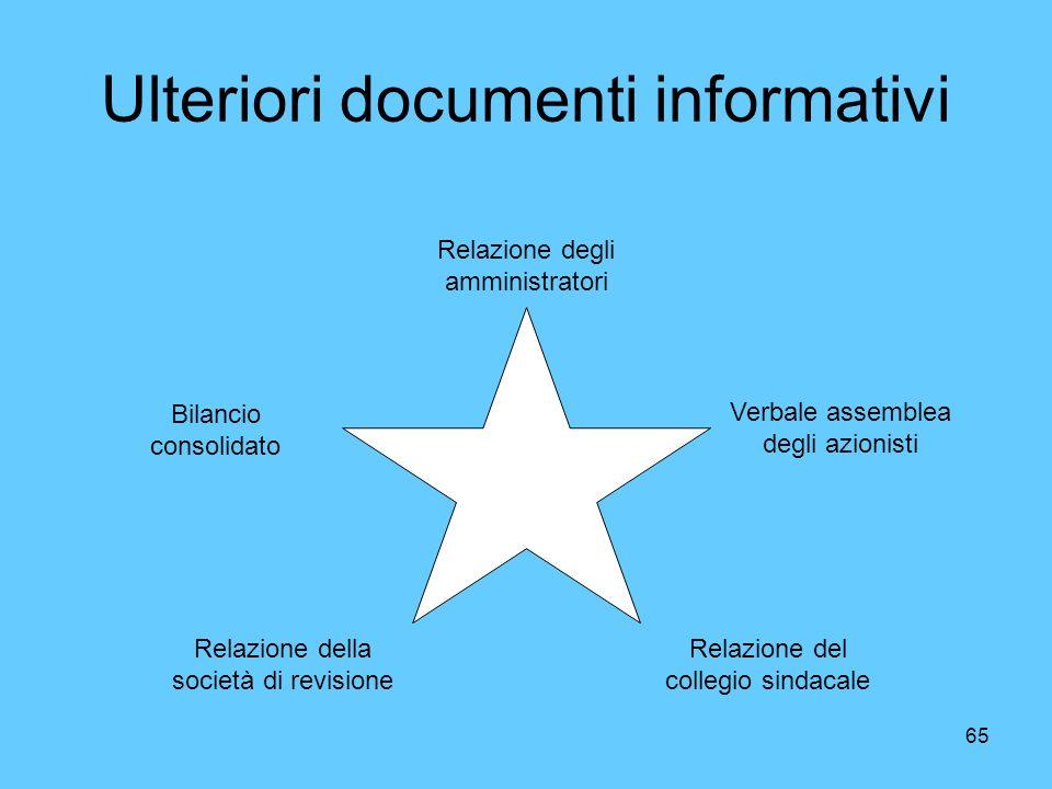 Ulteriori documenti informativi
