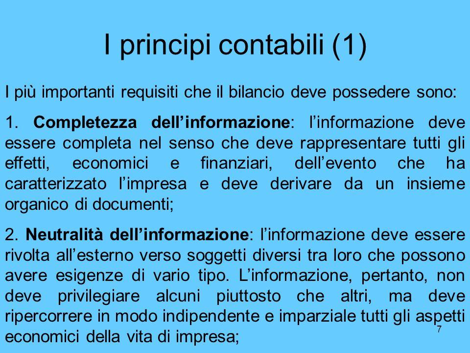 I principi contabili (1)