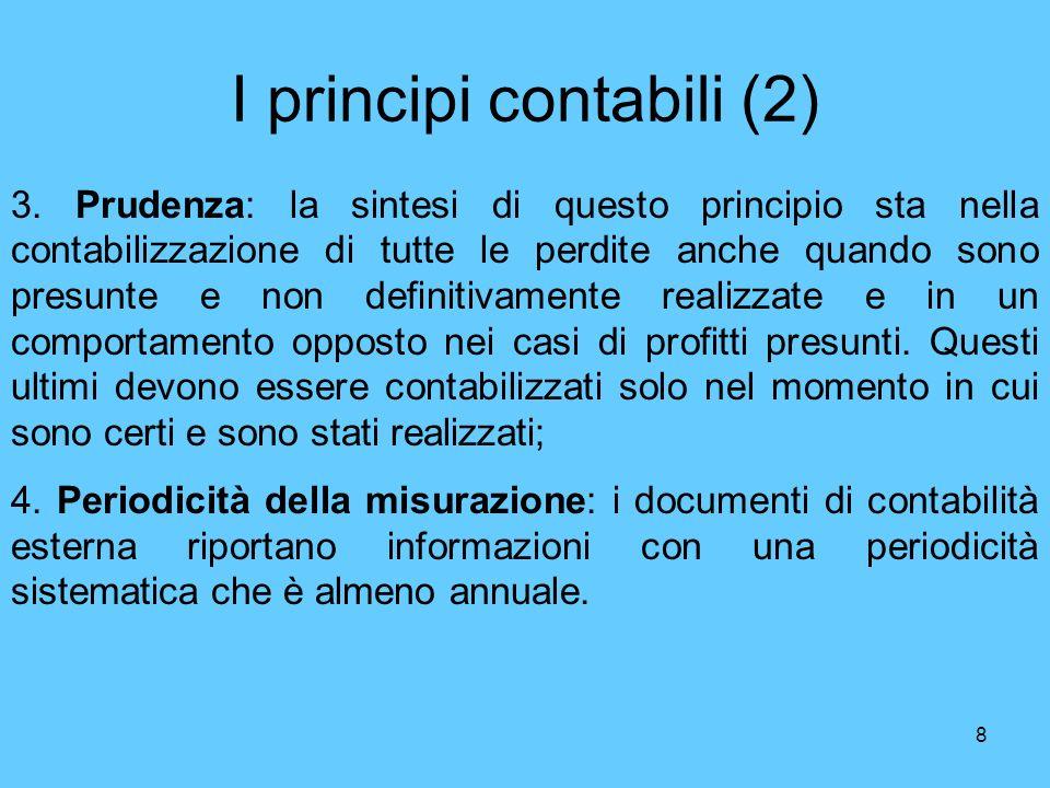I principi contabili (2)
