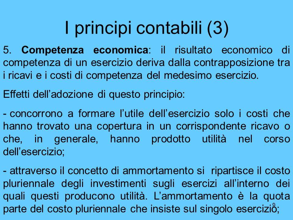 I principi contabili (3)