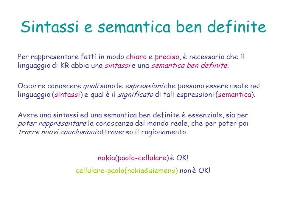 Sintassi e semantica ben definite