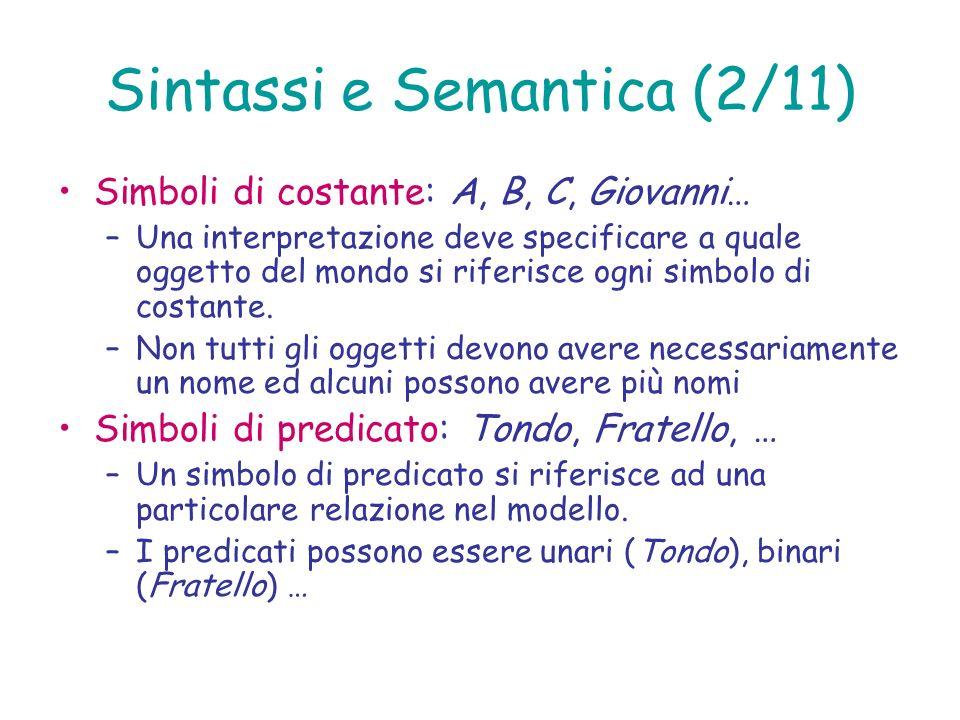 Sintassi e Semantica (2/11)