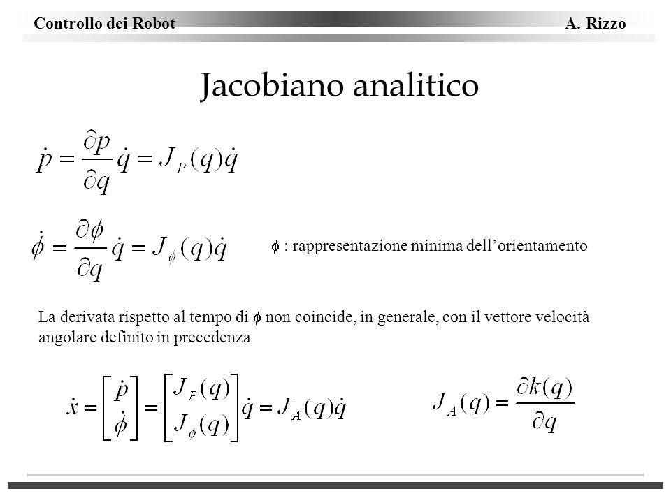 Jacobiano analitico  : rappresentazione minima dell'orientamento