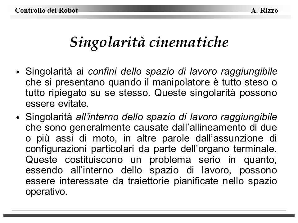 Singolarità cinematiche