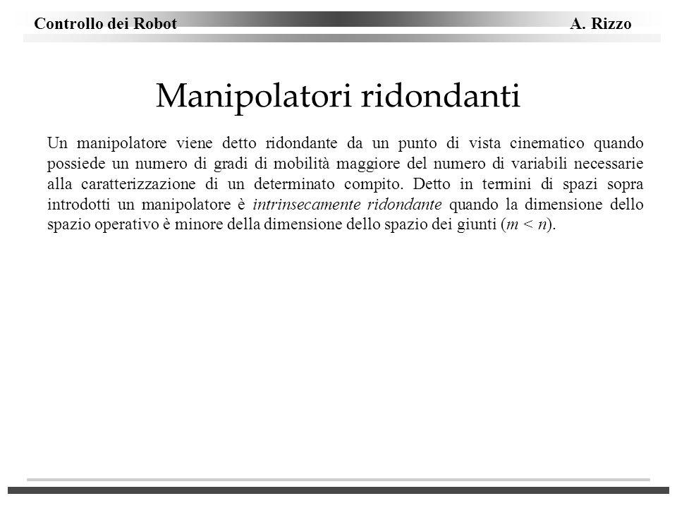 Manipolatori ridondanti