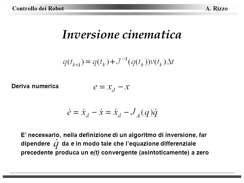 Inversione cinematica