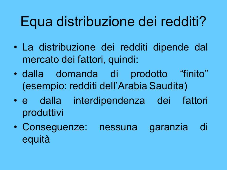 Equa distribuzione dei redditi