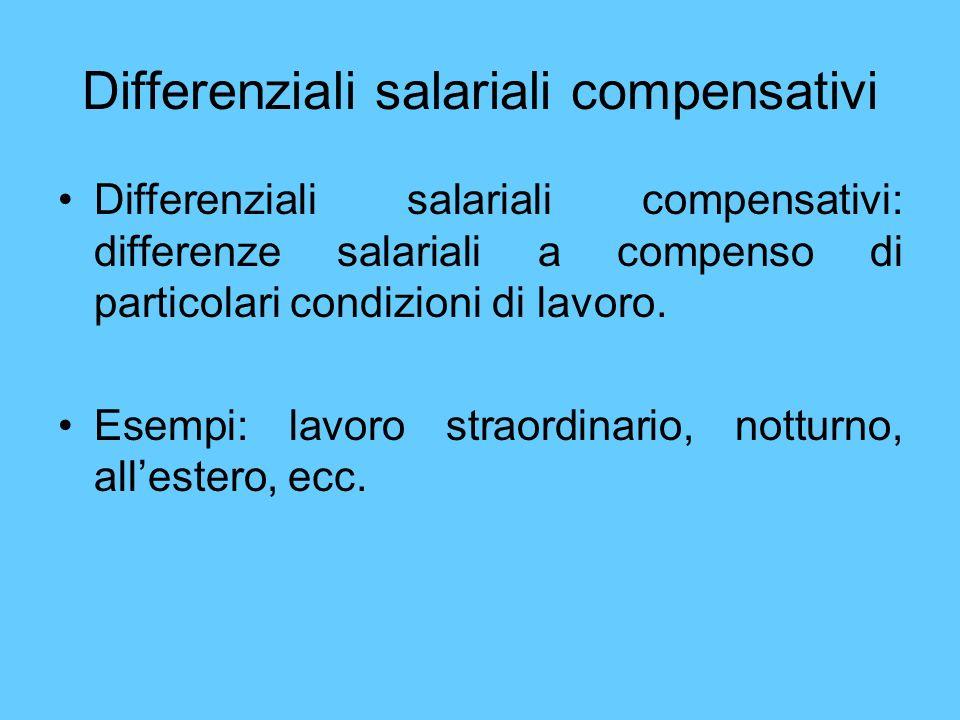 Differenziali salariali compensativi