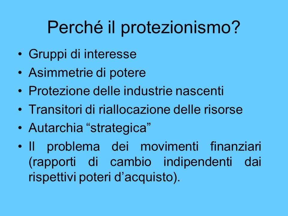Perché il protezionismo