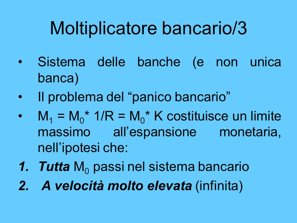 Moltiplicatore bancario/3