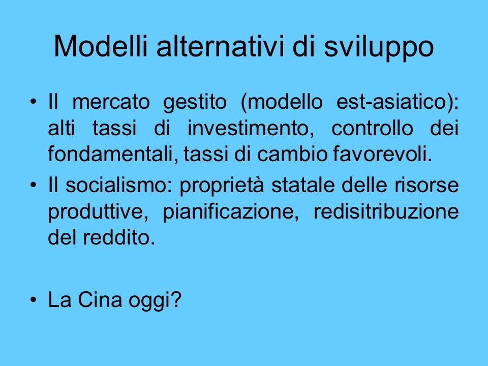 Modelli alternativi di sviluppo