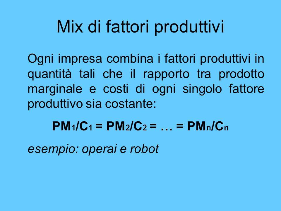 Mix di fattori produttivi