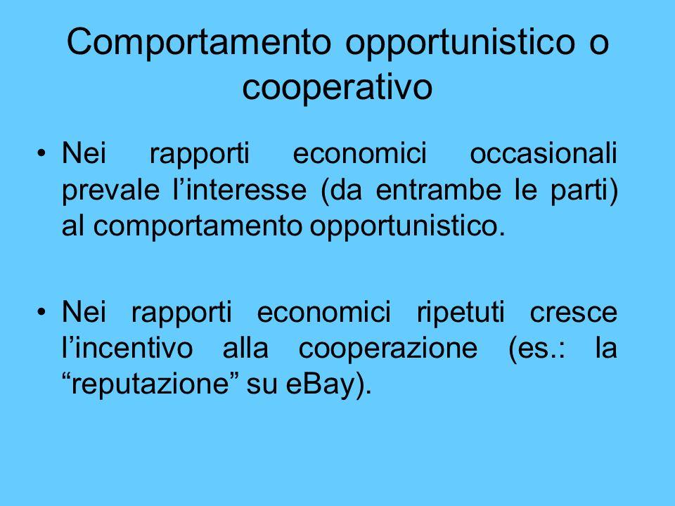 Comportamento opportunistico o cooperativo