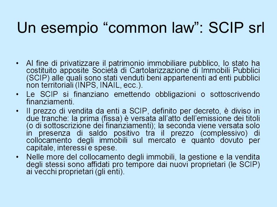 Un esempio common law : SCIP srl