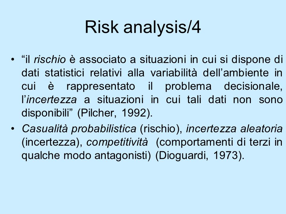 Risk analysis/4