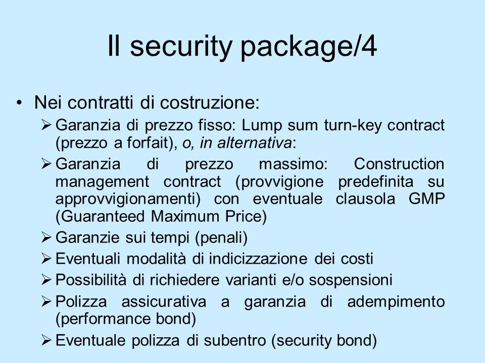 Il security package/4 Nei contratti di costruzione: