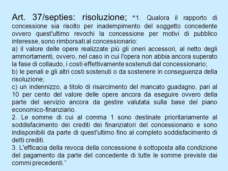Art. 37/septies: risoluzione; 1