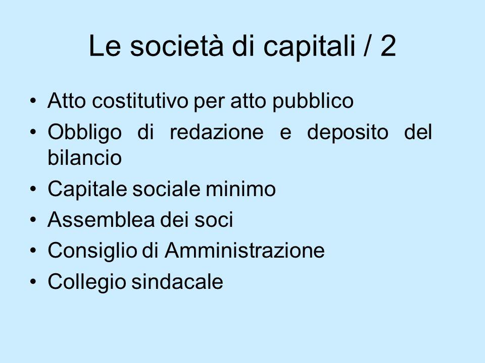 Le società di capitali / 2