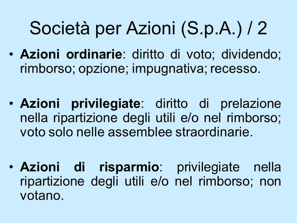 Società per Azioni (S.p.A.) / 2