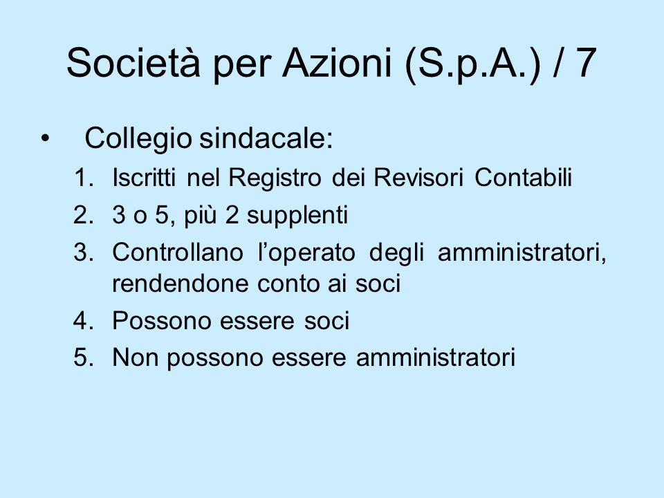 Società per Azioni (S.p.A.) / 7