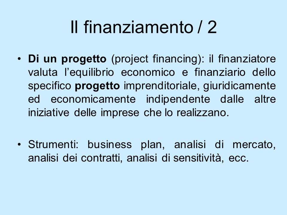 Il finanziamento / 2