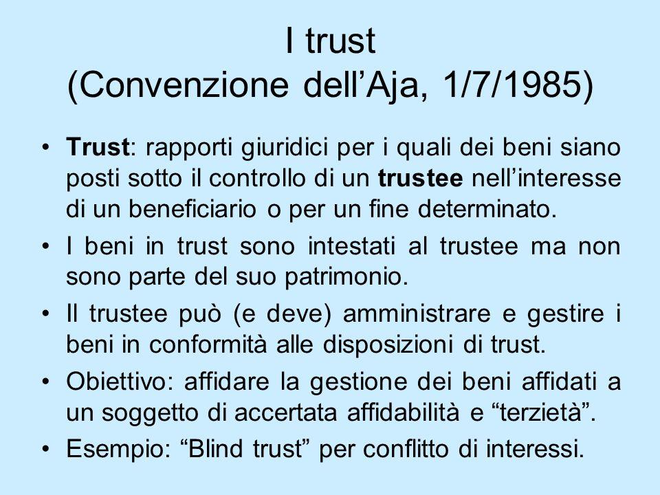 I trust (Convenzione dell'Aja, 1/7/1985)