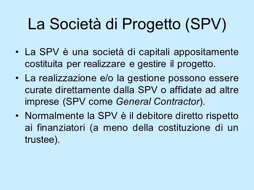 La Società di Progetto (SPV)