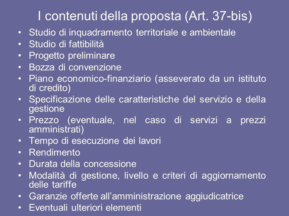 I contenuti della proposta (Art. 37-bis)